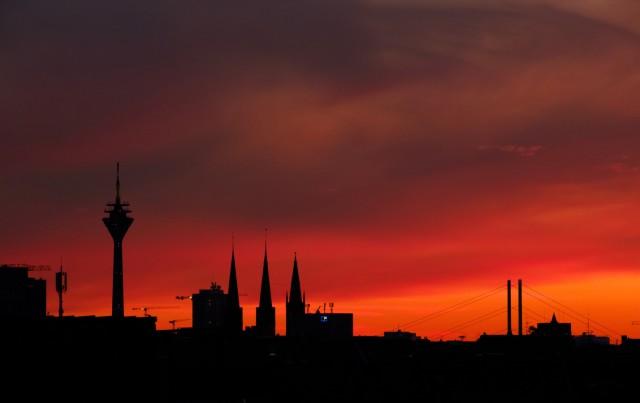 Sonnenuntergang in Düsseldorf