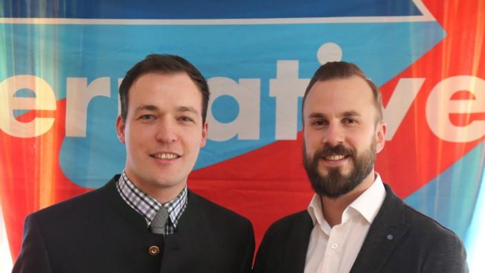 AfD im Bundestag: Johannes Huber (links) und Tobias Teich.