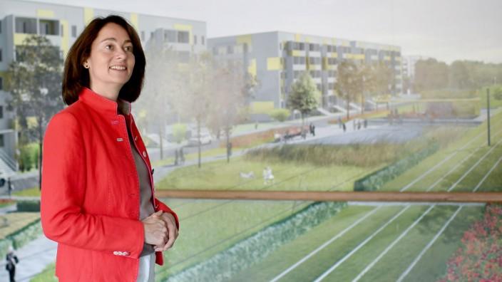 Katarina Barley besucht Gartenstadt Drewitz