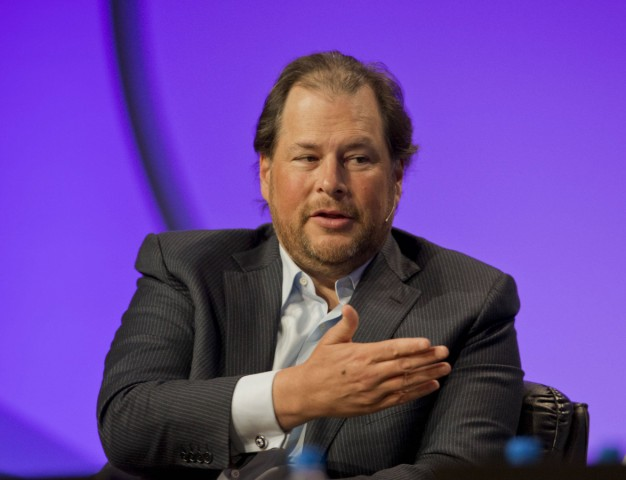 September 17 2018 File Photo MARC BENIOFF the billionaire CEO of Salesforce and his wife Ly