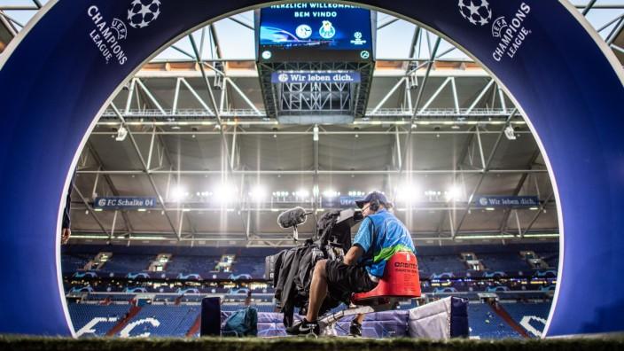 Champions League - Veltins-Arena vor dem Spiel FC Schalke 04 gegen FC Porto