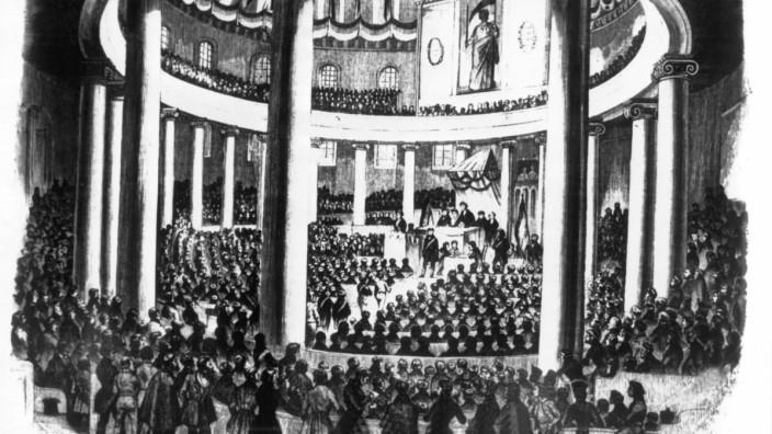 Revolution 1848 - Vorparlament in der Paulskirche