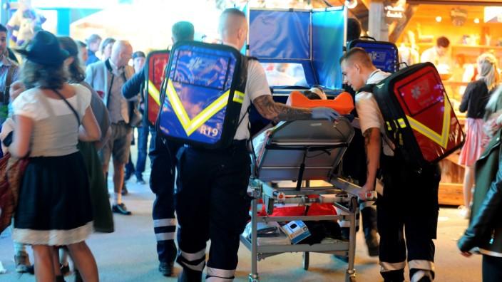 Oktoberfest: Rettungskräfte auf der Wiesn