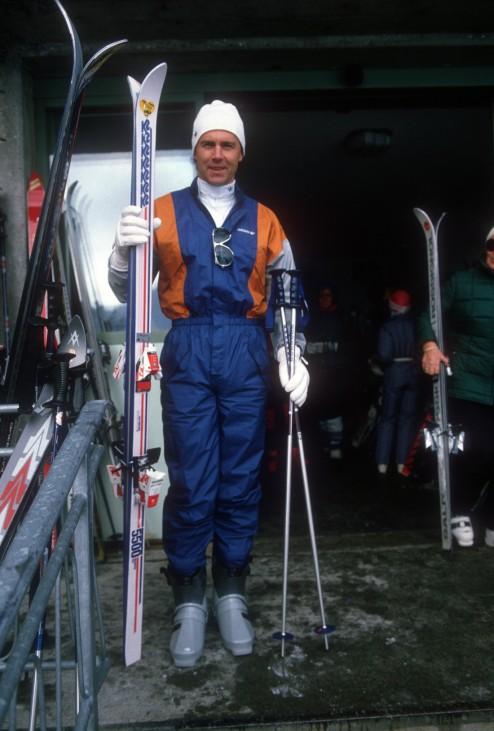 Franz Beckenbauer BR Deutschland läuft in seiner Freizeit gern Ski; Franz Beckenbauer