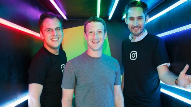mark zuckerberg and kevin systrom and mike krieger Instagram