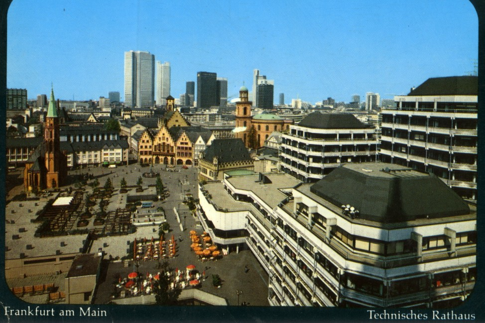 Dom-Römer-Areal mit Technischem Rathaus, Postkarte © Verlag Arthur F. Krüger