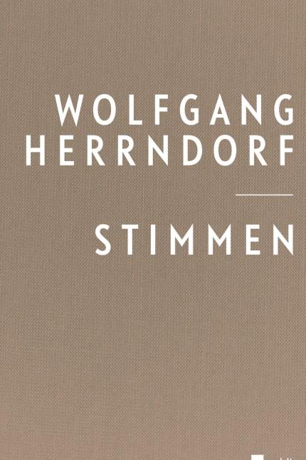 Wolfgang Herrndorf - 'Stimmen'