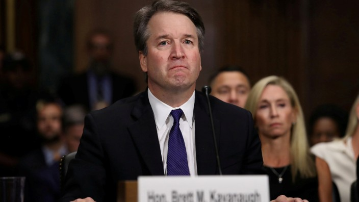 FILE PHOTO: Judge Kavanaugh testifies before the Senate Judiciary Committee during his Supreme Court confirmation hearing in the Dirksen Senate Office Building on Capitol Hill in Washington