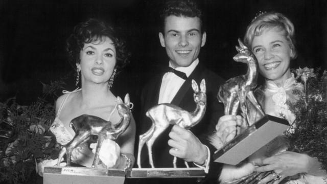 Gina Lollobrigida, Horst Buchholz und Maria Schell, 1958
