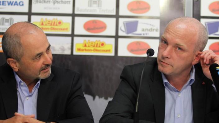 Hans Rothammer Vorstandsvorsitzender OB Joachim Wolbergs Aufsichtsratvorsitzender des SSV Jahn Rege