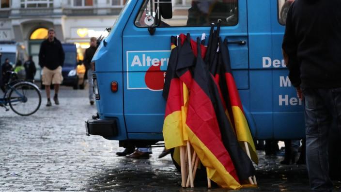 AfD-Demonstration in Rostock