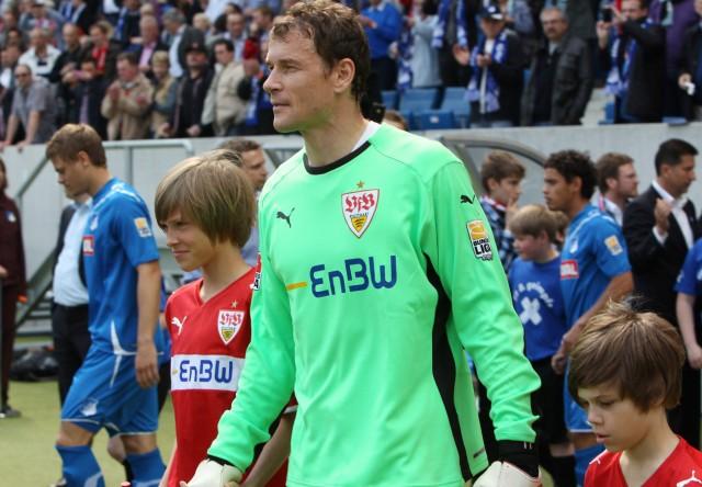 Fussball Bundesliga 1899 Hoffenheim VfB Stuttgart VFB TW Jens Lehmann mit seinen Söhnen Lasse li u