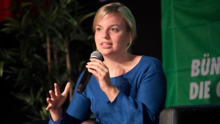 Katharina Schulze im Backstage, Wahlkampftermin Die Grünen