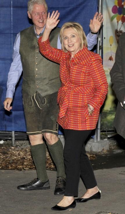 Oktoberfest: Bill und Hillary Clinton in München zum Wiesn-Besuch