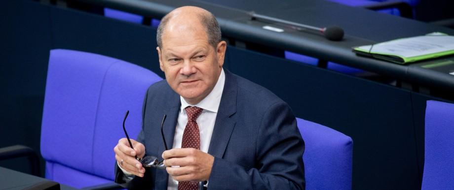 Bundesfinanzminister Olaf Scholz im Deutschen Bundestag