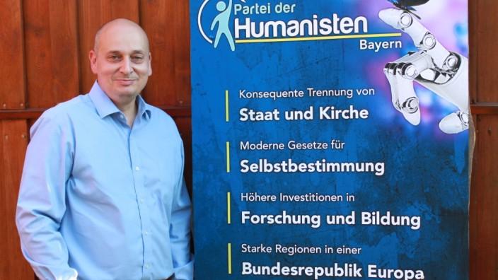 Partei der Humanisten im Landtagswahlkampf: Mirco Kramer ist Vorsitzender des Landesverbands Bayern