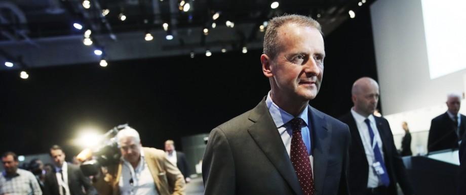 Volkswagen-Chef Herbert Diess