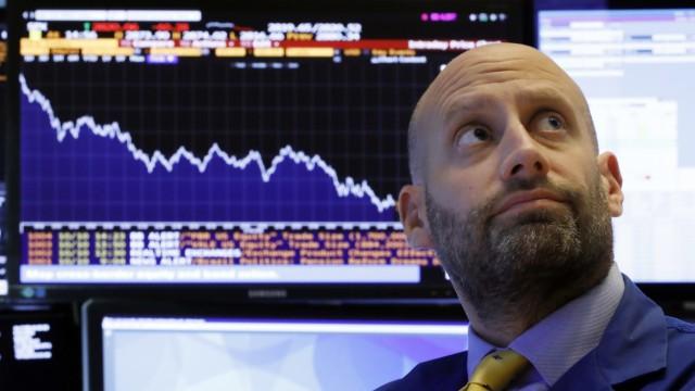 Wall Street - Händler beobachtet Börsencrash