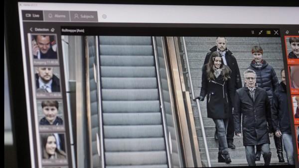 Gesichtserkennung Bahnhof Berlin-Südkreuz