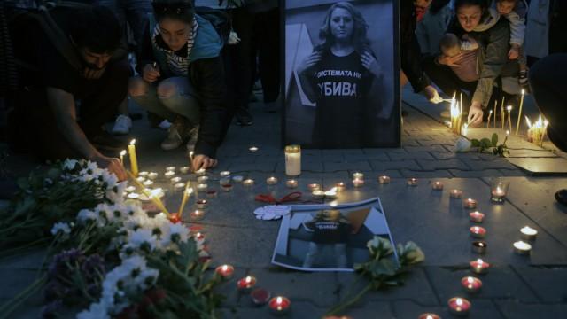 Mahnwache für Viktoria Marinowa
