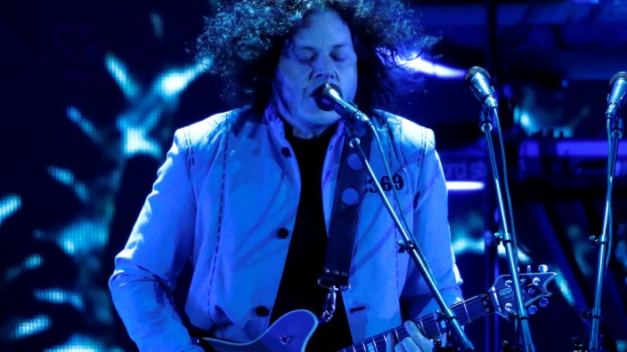 Jack White performs during the iHeartRadio Music Festival at T-Mobile Arena in Las Vegas