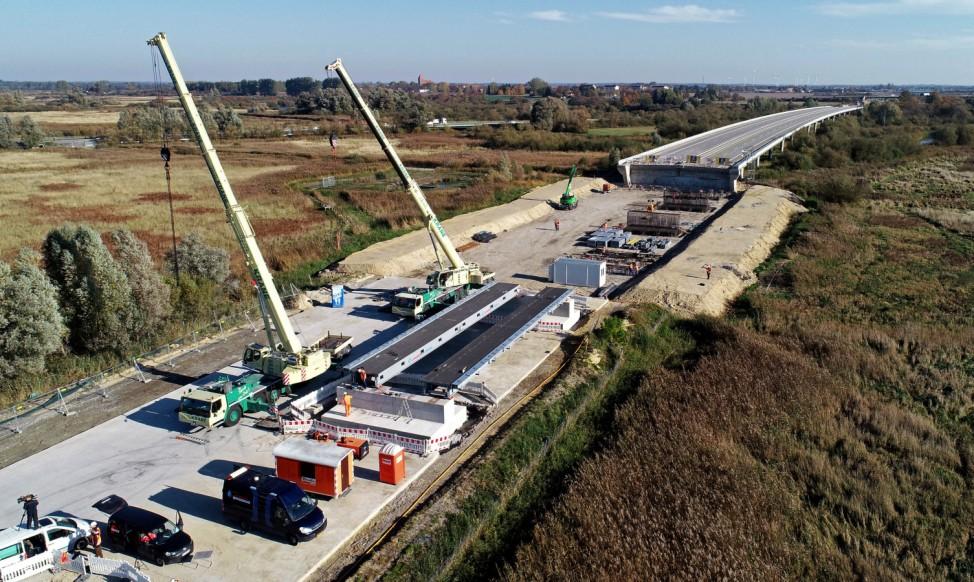 Bau von A20-Behelfsbrücke bei Tribsees beginnt
