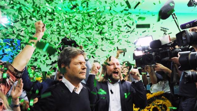 Grüne-Politiker Robert Habeck und Anton Hofreiter in München