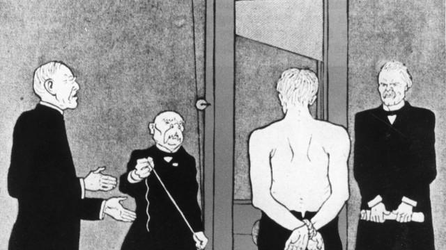 Karikatur zum Versailler Vertrag, 1919