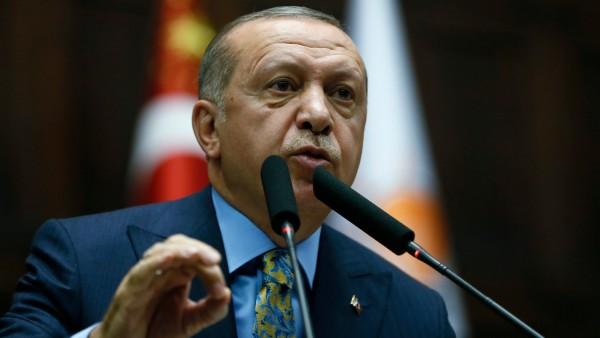 Recep Tayyip Erdogan spricht 2018 in Ankara
