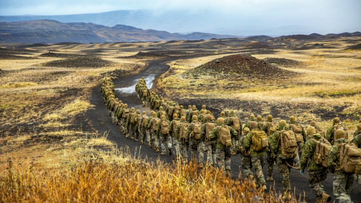 US-Marinekorps bei Manöver  in Island