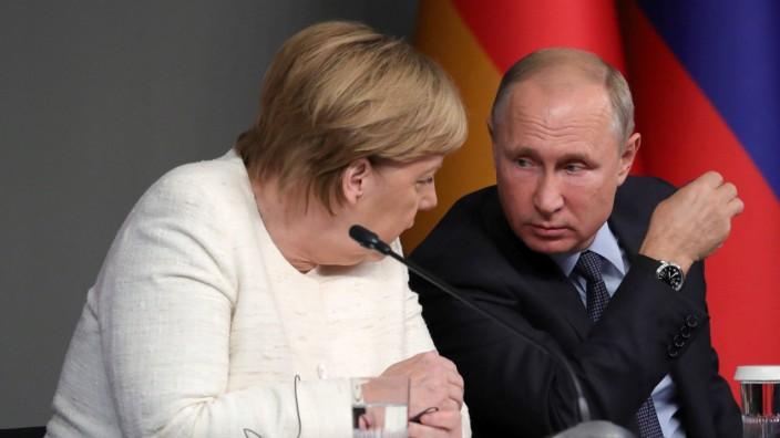 Merkel Putin Diplomatie