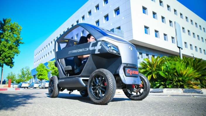 Faltbares Elektroauto gegen Parkplatzmangel