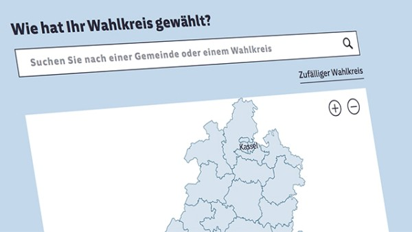 teaserbild wahlkreise karte hessen