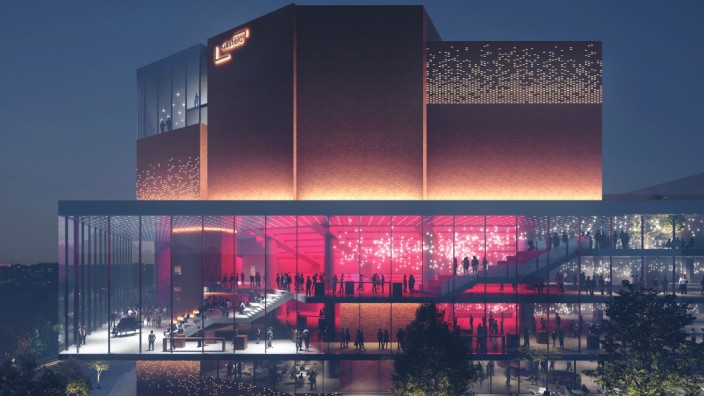 Der Entwurf des Architekturbüros Henn für den Gasteig-Umbau in München.