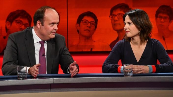 """Robin Alexander und Annalena Baerbock bei """"Hart aber fair"""""""