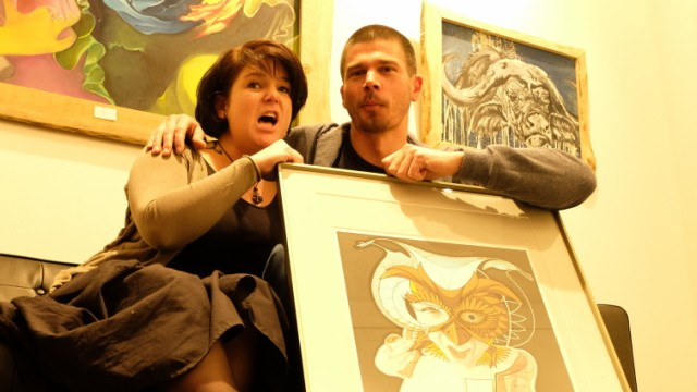 David Dott und Anne Liebegott, Künstler aus Ebersberg, Vernissage in München