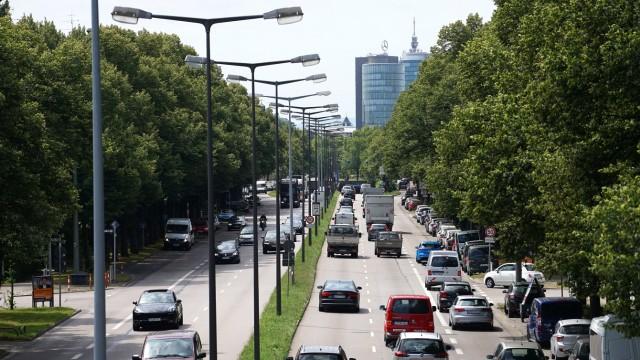 Die Landshuter Allee in München verzeichnet mit die meisten Unfälle im Stadtgebiet.