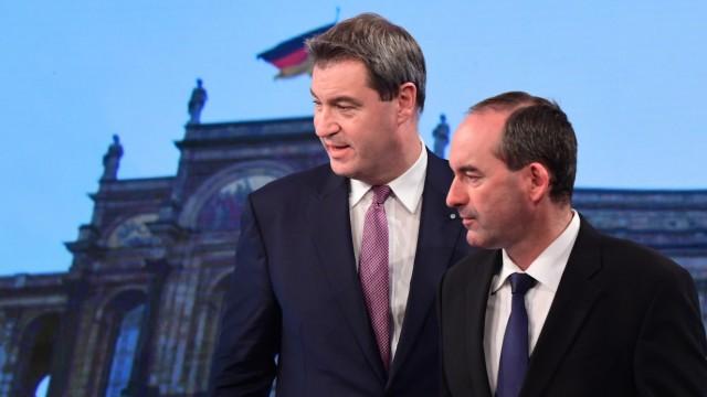 Markus Söder (CSU) und Hubert Aiwanger (Freie Wähler)