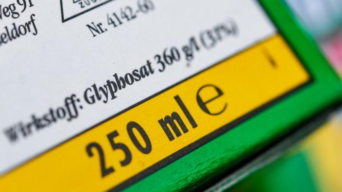Unkrautvernichtungsmittels mit dem Wirkstoff Glyphosat