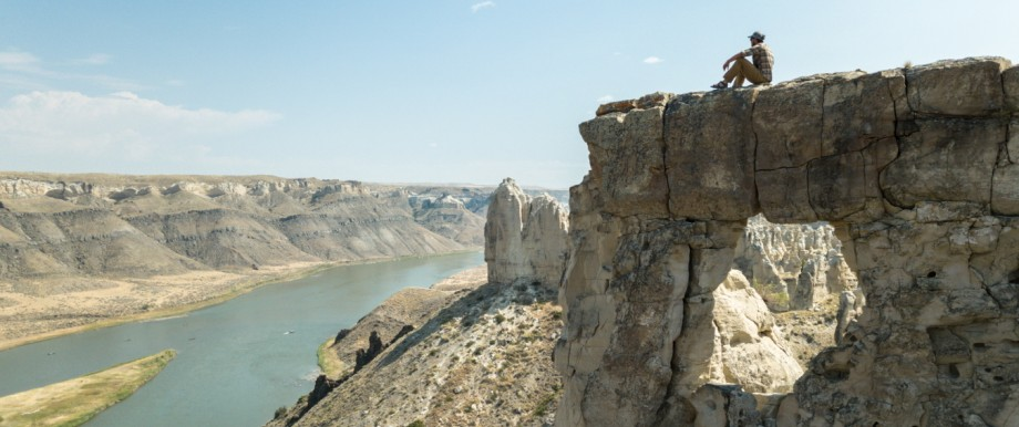 Pause auf den Weißen Klippen über dem Missouri in Montana