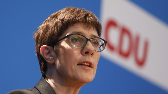 Annegret Kramp-Karrenbauer Seeks To Succeed Merkel As CDU Head