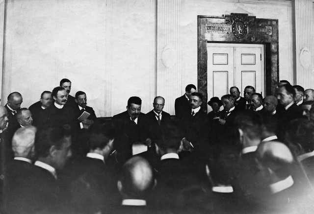 Friedrich Ebert auf einem Presseempfang, 1919