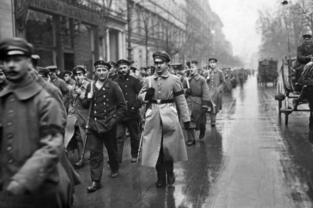 Revolutionäre Truppen in Berlin, 1918
