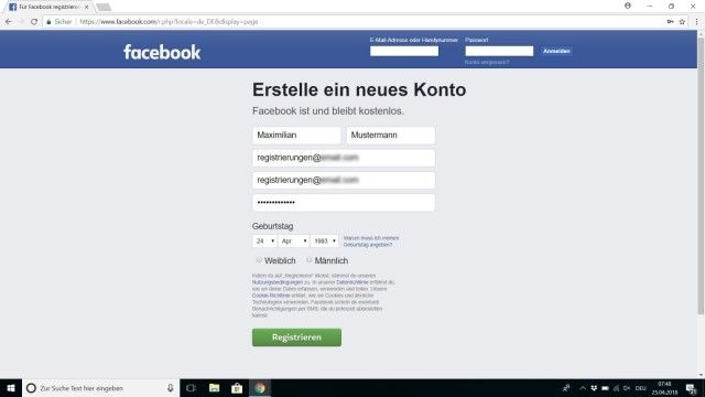 Facebook sichern