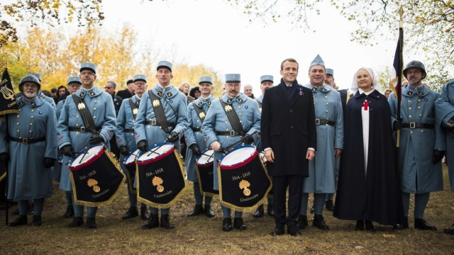 President Macron Marks The End Of World War One - Morhange