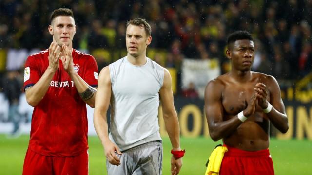 Spieler des FC Bayern nach der Niederlage in Dortmund