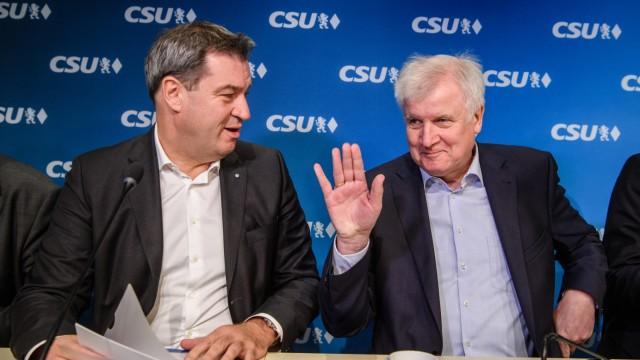 CSU-Vorstand und Fraktion beraten über Koalitionsvertrag