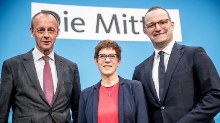 Kandidaten für den CDU Bundesvorsitz