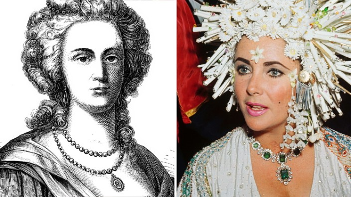 Rekorderlös: Zwei mit Sinn für Opulenz: die einstige Königin von Frankreich Marie Antoinette und die einstige Königin von Hollywood Elizabeth Taylor.