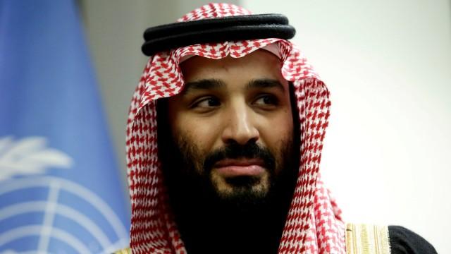 FILE PHOTO: Saudi Arabia's Crown Prince Mohammed bin Salman Al Saud meets U.N. Secretary-General Guterres in New York